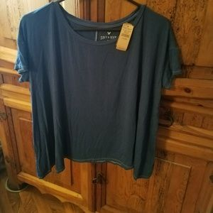 AEO Soft & Sexy Sharkbite Hem T-shirt  *Blue* XS/S